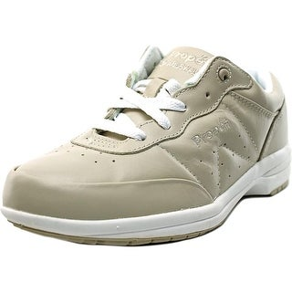 Propet Washable Walker Women 2E Round Toe Leather Nude Sneakers