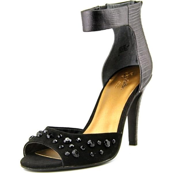 Seychelles Elevate Women Open-Toe Leather Black Slingback Heel
