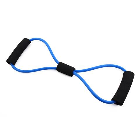 8 Shape Powerlifting Workout Resistance Tube Strength Training Rope Hose Blue