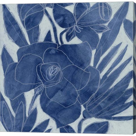 June Erica Vess 'Blue Lagoon Silhouette I' Canvas Art
