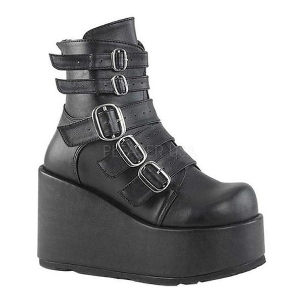 f3d6a200944 Demonia Women's Concord 57 Mid Calf Boot Black Vegan Leather
