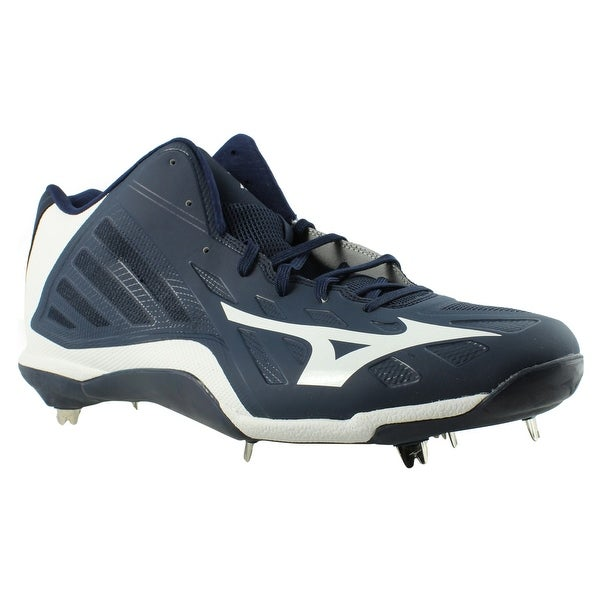 931341549fda Shop Mizuno Mens Heist Iq Navy/White Baseball Cleats Size 16 - On Sale -  Free Shipping On Orders Over $45 - Overstock - 23123525