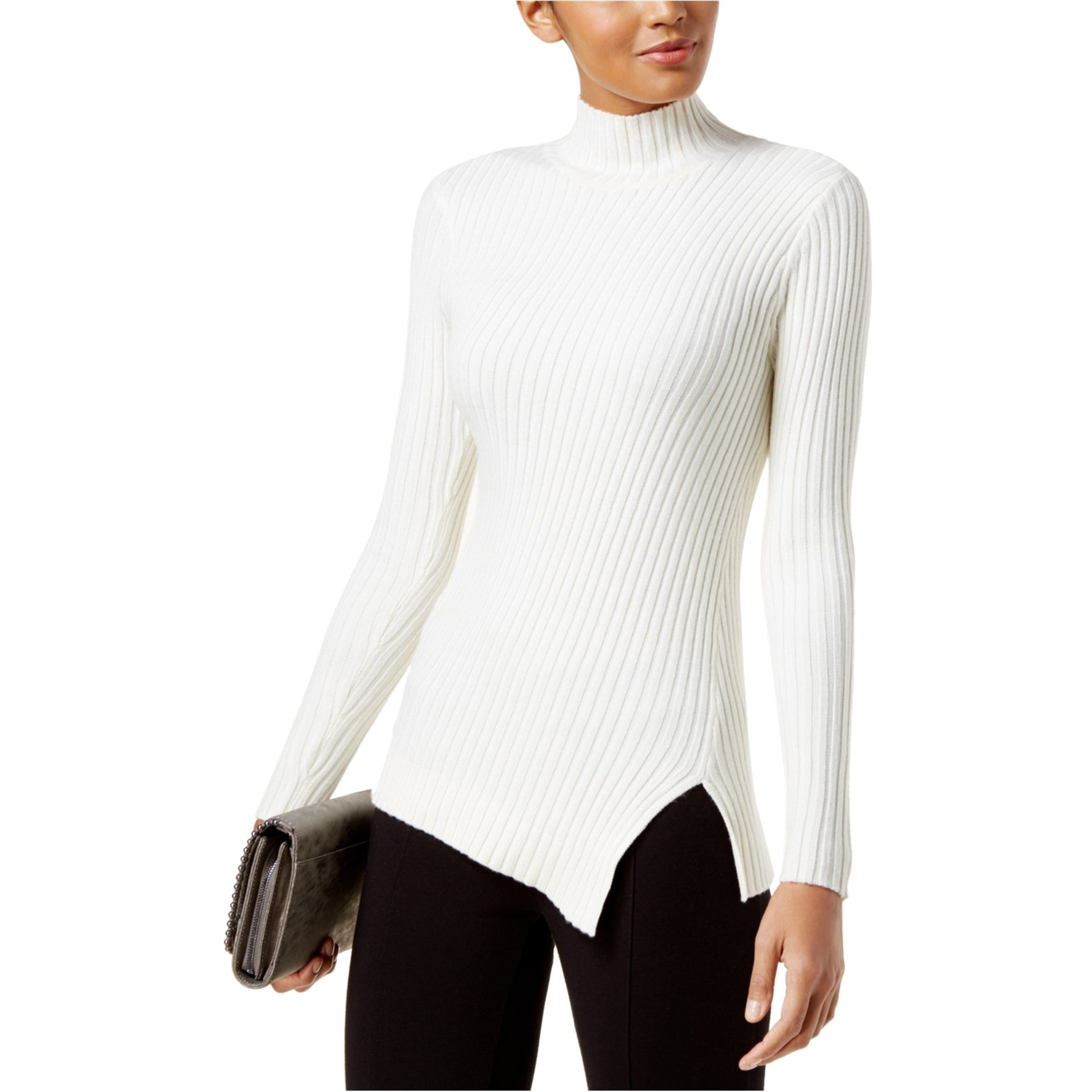 I-N-C Womens Ribbed Knit Sweater