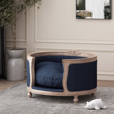 Gilmanton Upholstered Medium Pet Bed by Christopher Knight Home