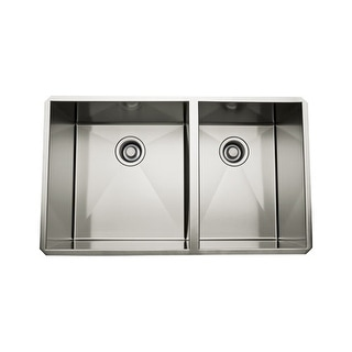 "Rohl RSS3118 31"" 60/40 Double Basin Stainless Steel Kitchen Sink"