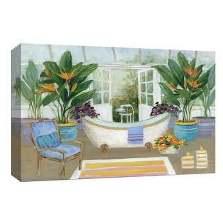 """PTM Images 9-148357  PTM Canvas Collection 8"""" x 10"""" - """"Tropical Island Spa I"""" Giclee Bed and Bath Art Print on Canvas"""