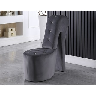 Link to Best Master Furniture High Heel Upholstered Shoe Lounge Chair Similar Items in Living Room Chairs