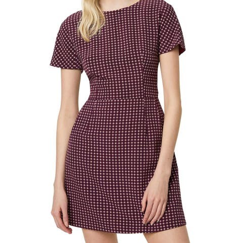 French Connection Womens Sheath Dress Purple Size 8 Bettina Printed
