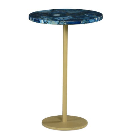 The Curated Nomad Aegean Round Chairside End Table