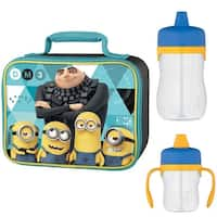 Thermos Soft Lunch Kit w/ 8oz & 11oz Sippy Cup Drink Bottle - Despicable Me 3