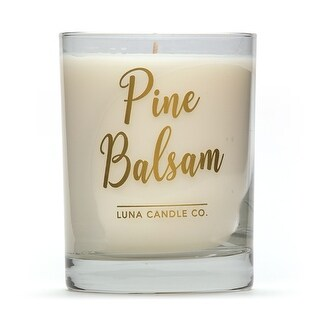 Fresh, Pine Balsam Scented Jar Candle,Natural Soy Wax with Eucalyptus - 11 oz
