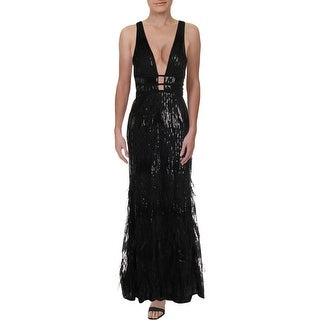 Xscape Womens Evening Dress Sequined Formal - Black
