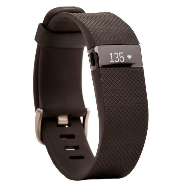 Fitbit Charge HR Wireless Activity Wristband (Black / Large)