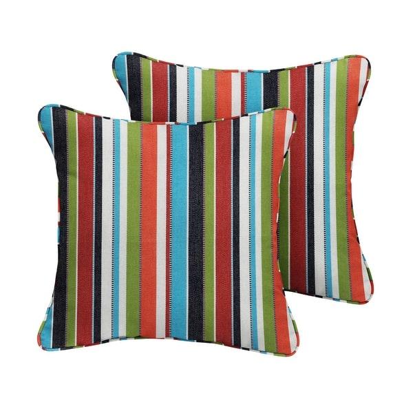 Sunbrella Carousel Confetti Corded Indoor Outdoor Pillow Set Set Of 2 Overstock 8896119