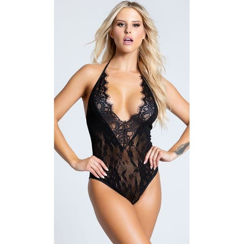 Alluring Low Cut Teddy - One Size Fits Most