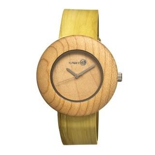Earth Wood Ligna Unisex Quartz Watch, Genuine Leather Band