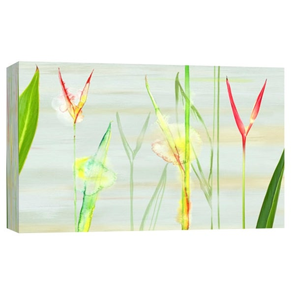 """PTM Images 9-102189 PTM Canvas Collection 8"""" x 10"""" - """"Stems in Tropics I"""" Giclee Flowers Art Print on Canvas"""