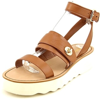 Coach Platt Peb Open Toe Leather Platform Sandal