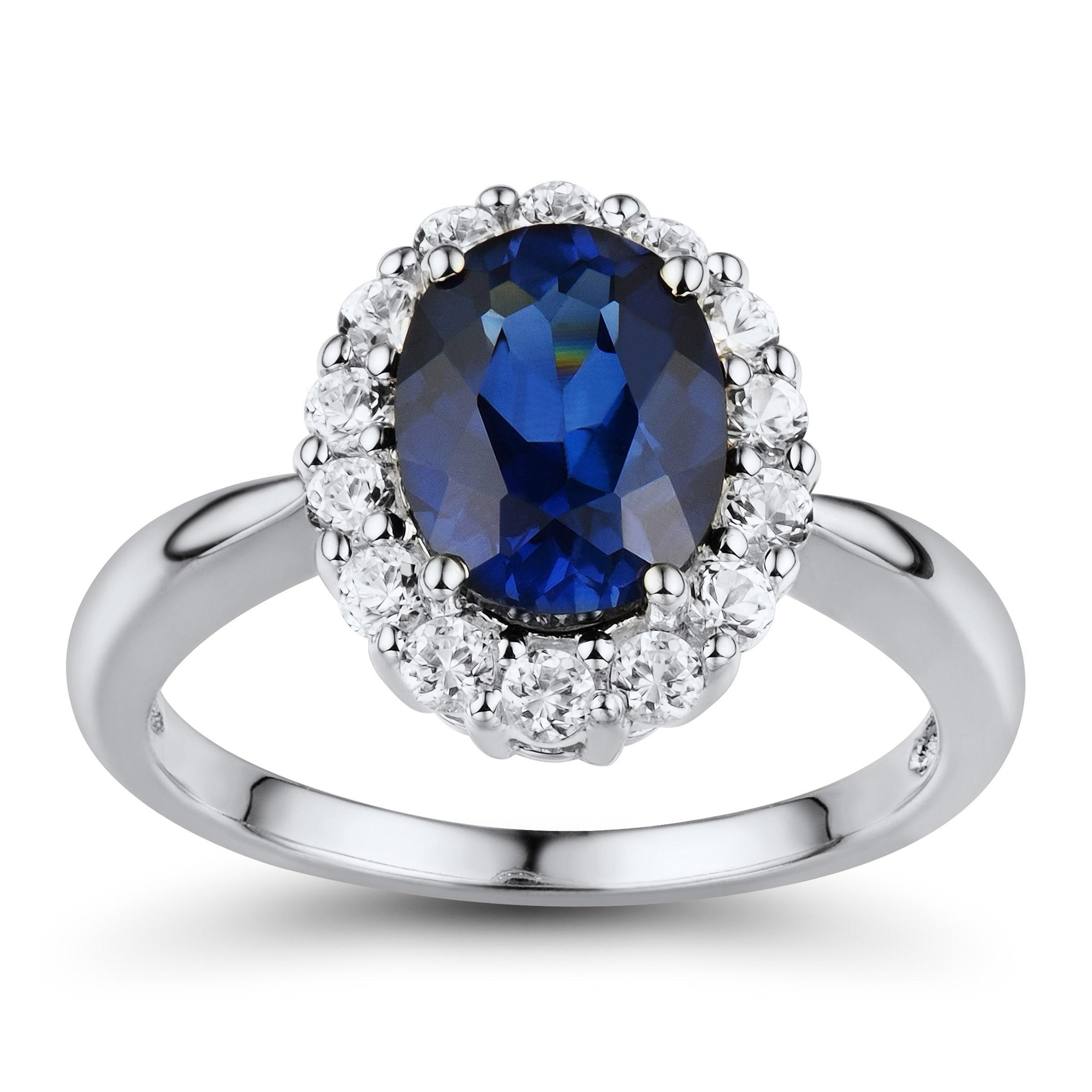 Turkish Handmade 925 Sterling Silver Sapphire Blue Stone Womans Ladies Full Set