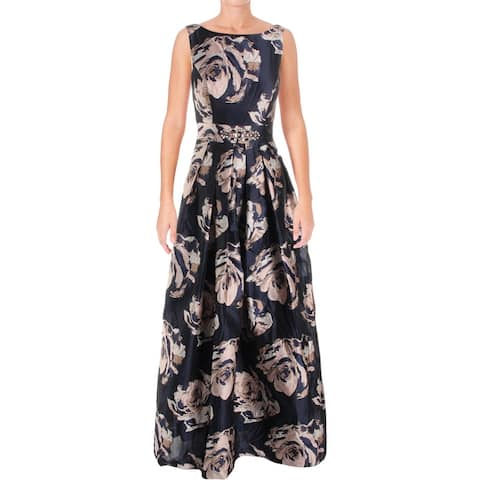 Eliza J Womens Evening Dress Floral Print Embellished