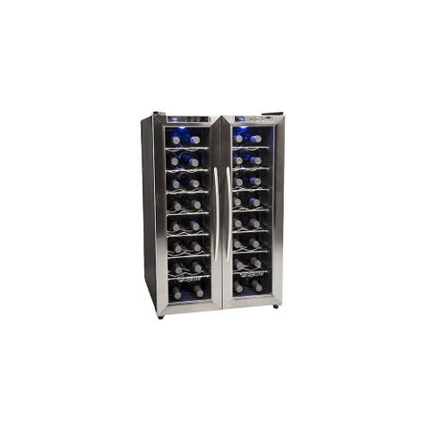 "EdgeStar TWR325E 21"" Wide 32 Bottle Wine Cooler with Dual Cooling Zones"