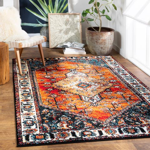 Junia Persian Medallion Area Rug