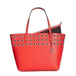 Nine West Womens Darya Tote Handbag Faux Leather Embellished - Large