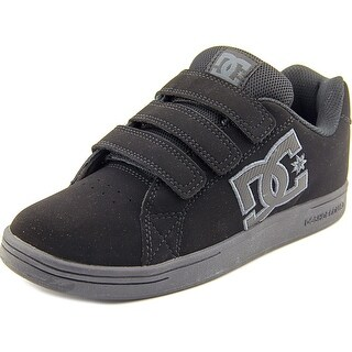 DC Shoes Character V Youth Round Toe Leather Black Skate Shoe