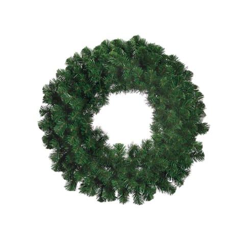 """24"""" Deluxe Windsor Pine Artificial Christmas Wreath - Unlit"""