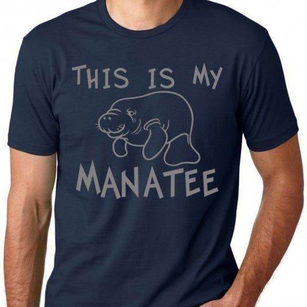 40b9e9749 Shop This Is My Manatee Funny T Shirt Funny Pun Shirts - Free ...