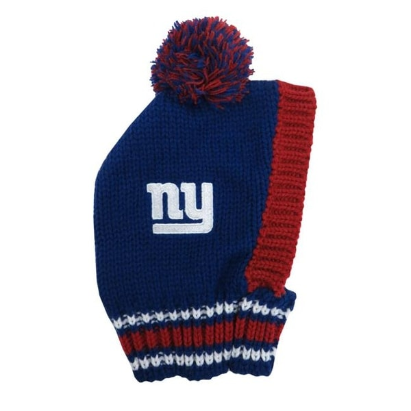 2ae1e074c57e45 ... real little earth nfl team pet knit hat new york giants large 0ee7c  4b9b4