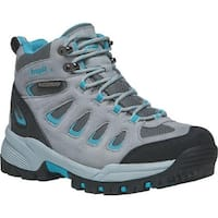 Propet Women's Ridge Walker Hiking Boot Light Grey Turquoise Suede/Mesh