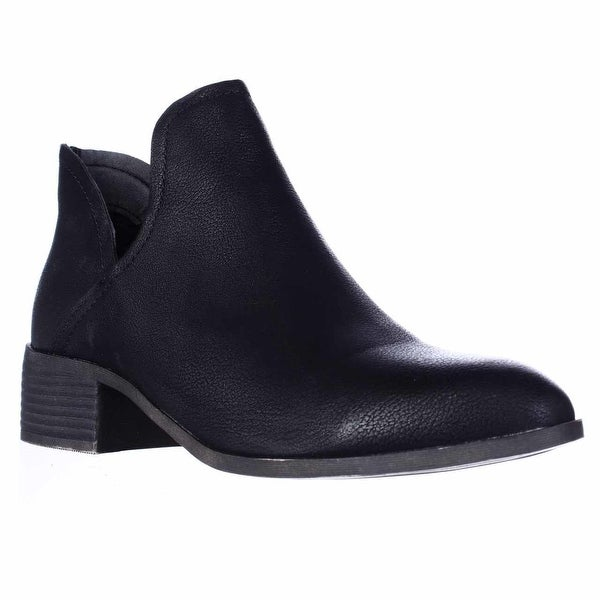 madden girl Zavier Deep Cut Ankle Booties, Black