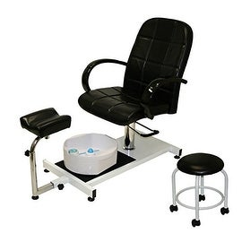 LCL Beauty Hydraulic Lift Adjustable Pedicure Unit with Massage Footbath