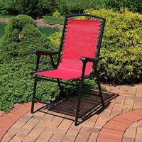 Sunnydaze Mesh Outdoor Suspension Folding Patio Lounge Chair
