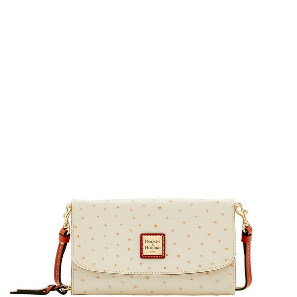 Dooney & Bourke Ostrich Embossed Leather Clutch Wallet (Introduced by Dooney & Bourke at $178 in May 2017)