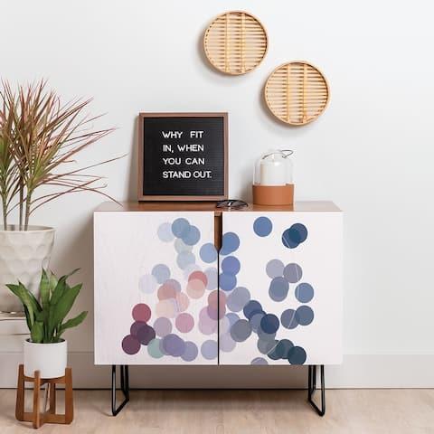 Deny Designs Floating Circles Credenza (Birch or Walnut, 2 Leg Options)