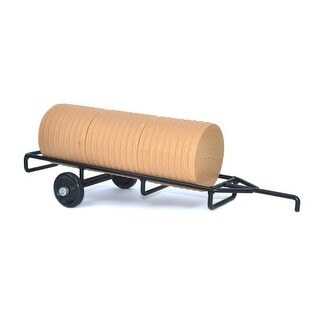 Little Buster Toy Heavy Duty Cattle Round Bale Hay Trailer 500206