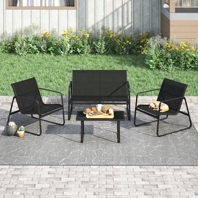Corvus Rosemary 4-piece Outdoor Sling Fabric Conversation Set