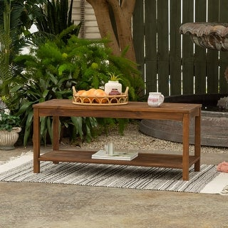 Link to Surfside Acacia Patio Coffee Table by Havenside Home Similar Items in Outdoor Coffee & Side Tables