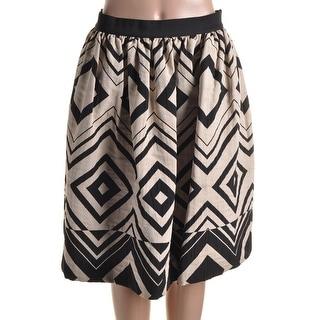 Martin Grant Womens Silk Blend Geometrical A-Line Skirt - 40