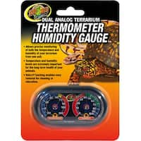 Dual Analog Thermometer And Humidity Gauge