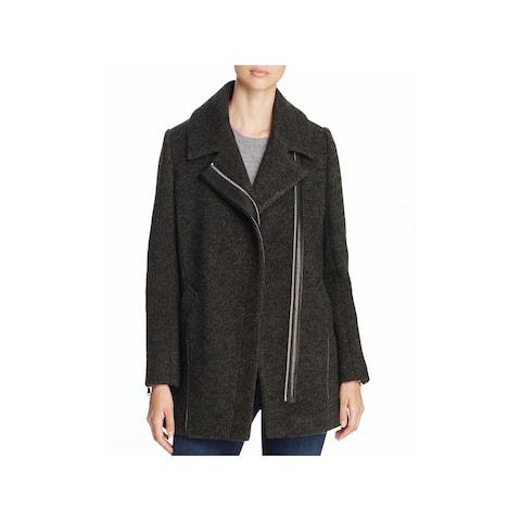 Andrew Marc Womens Zoe Coat Winter Virgin Wool