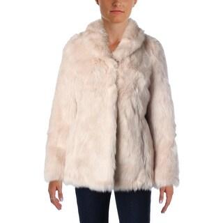 Aqua Womens Faux Fur Long Sleeves Jacket - XS