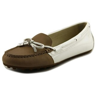 Michael Michael Kors Daisy Moc Women Moc Toe Leather White Loafer