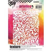 Carabelle Studio Art Printing A6 Rubber Texture Plate-Flourish
