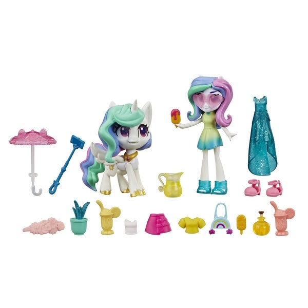 My Little Pony Equestria Girls Princess Celestia Potion Princess -- 3-Inch Mini Doll And Pony Toy With 20 Accessories. Opens flyout.