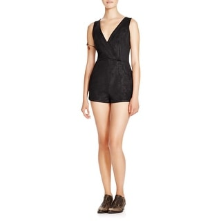 Free People Womens Moonlight Romper Double-V Stretch