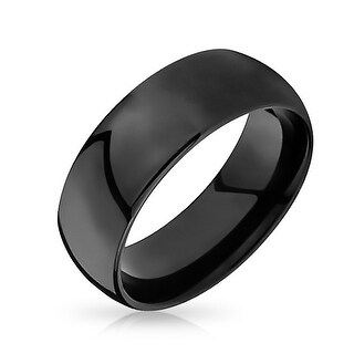 Black Tungsten Mens Wedding Band Ring 8mm