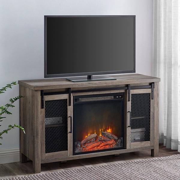The Gray Barn Kujawa Fireplace TV Stand Console. Opens flyout.